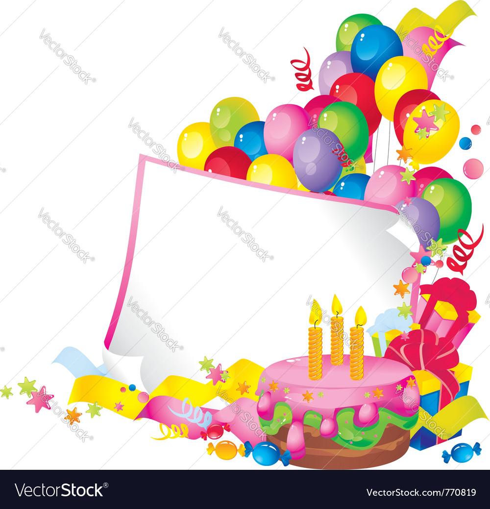birthday celebration royalty free vector image
