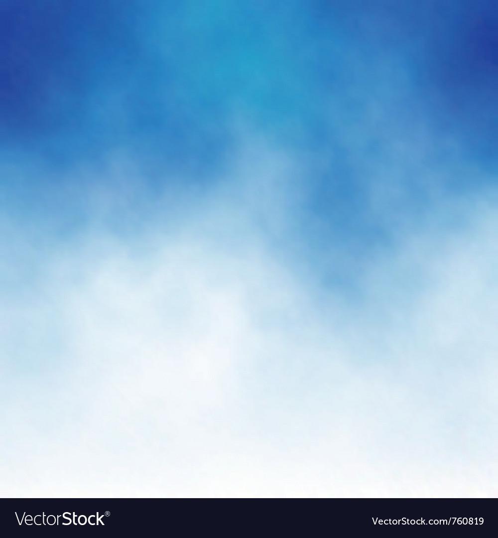 Cloud blue vector image
