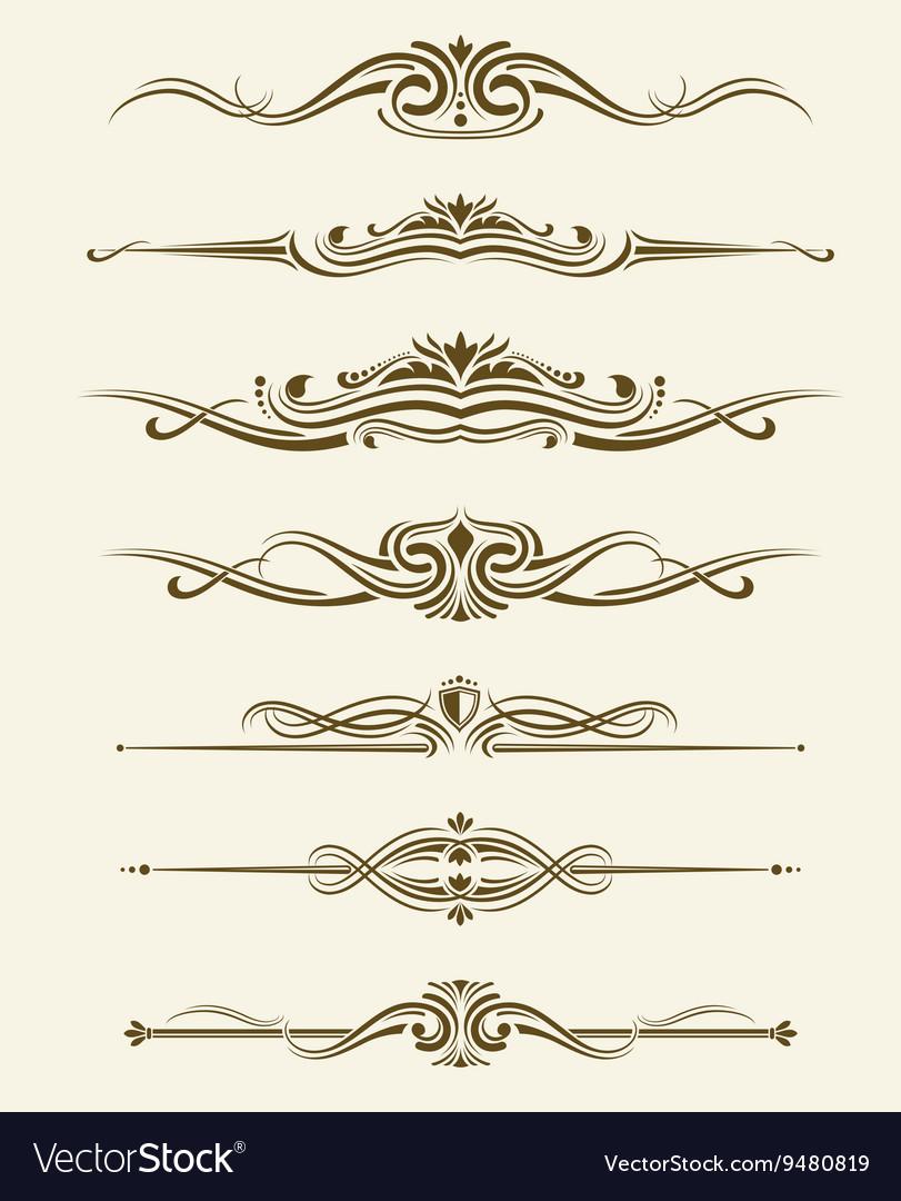 Retro flourishes page dividers decorative