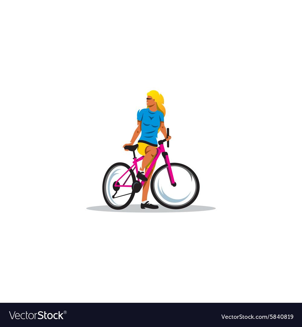 Sexy Girl on Bike sign