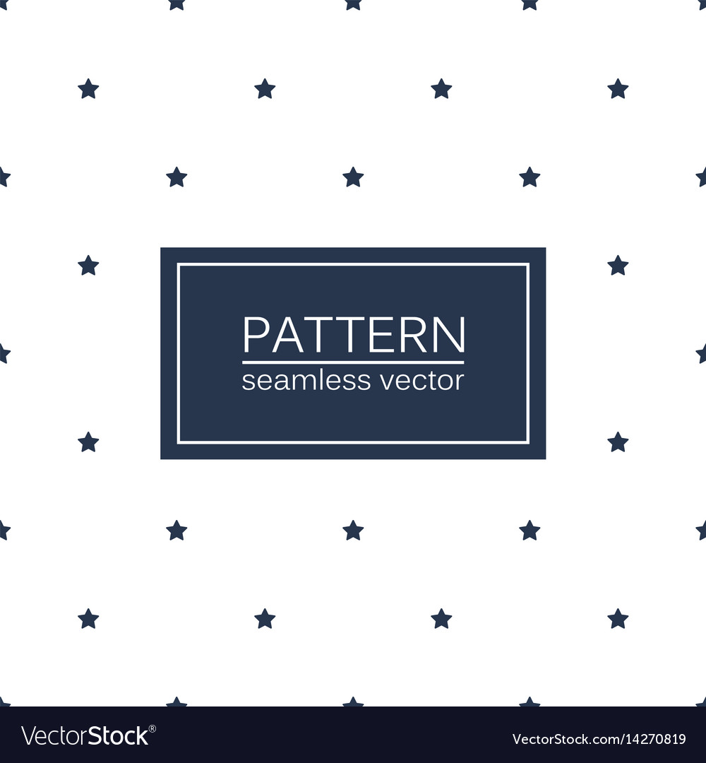 Simple seamless patterns with blue stars