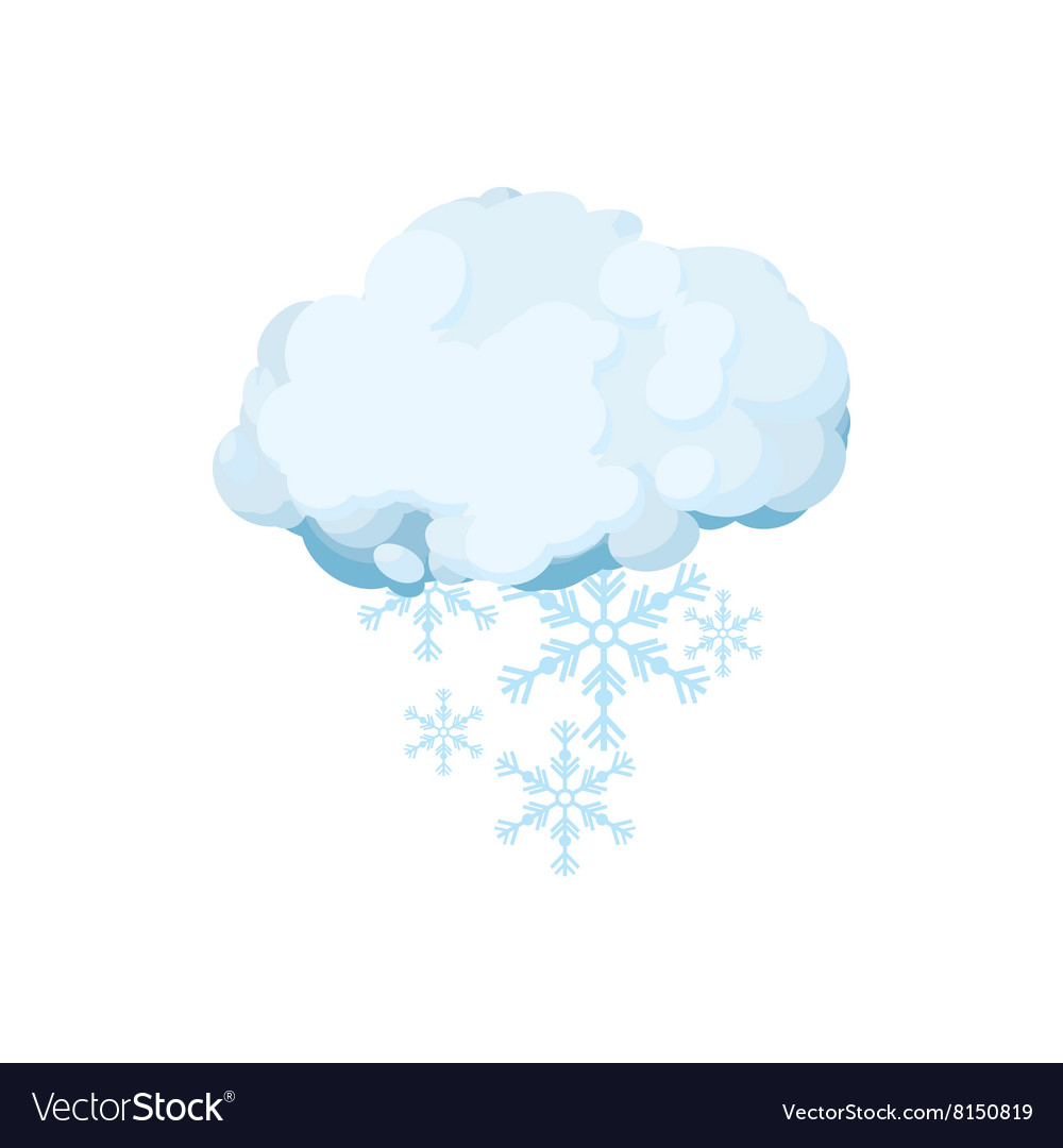 Snow cloud icon cartoon style