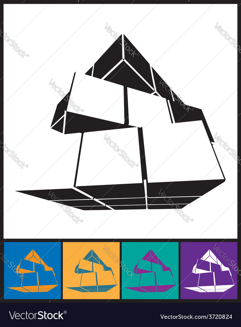 Abstract cube ico vector image