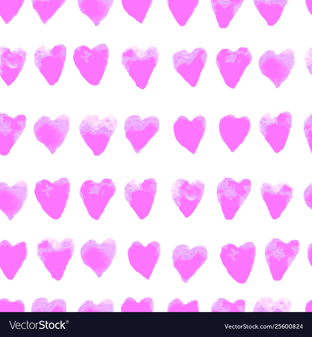 Colorful seamless pattern with hearts