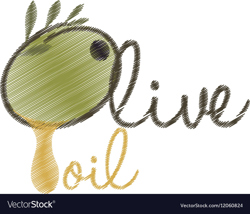 Drawing lettering olive oil design