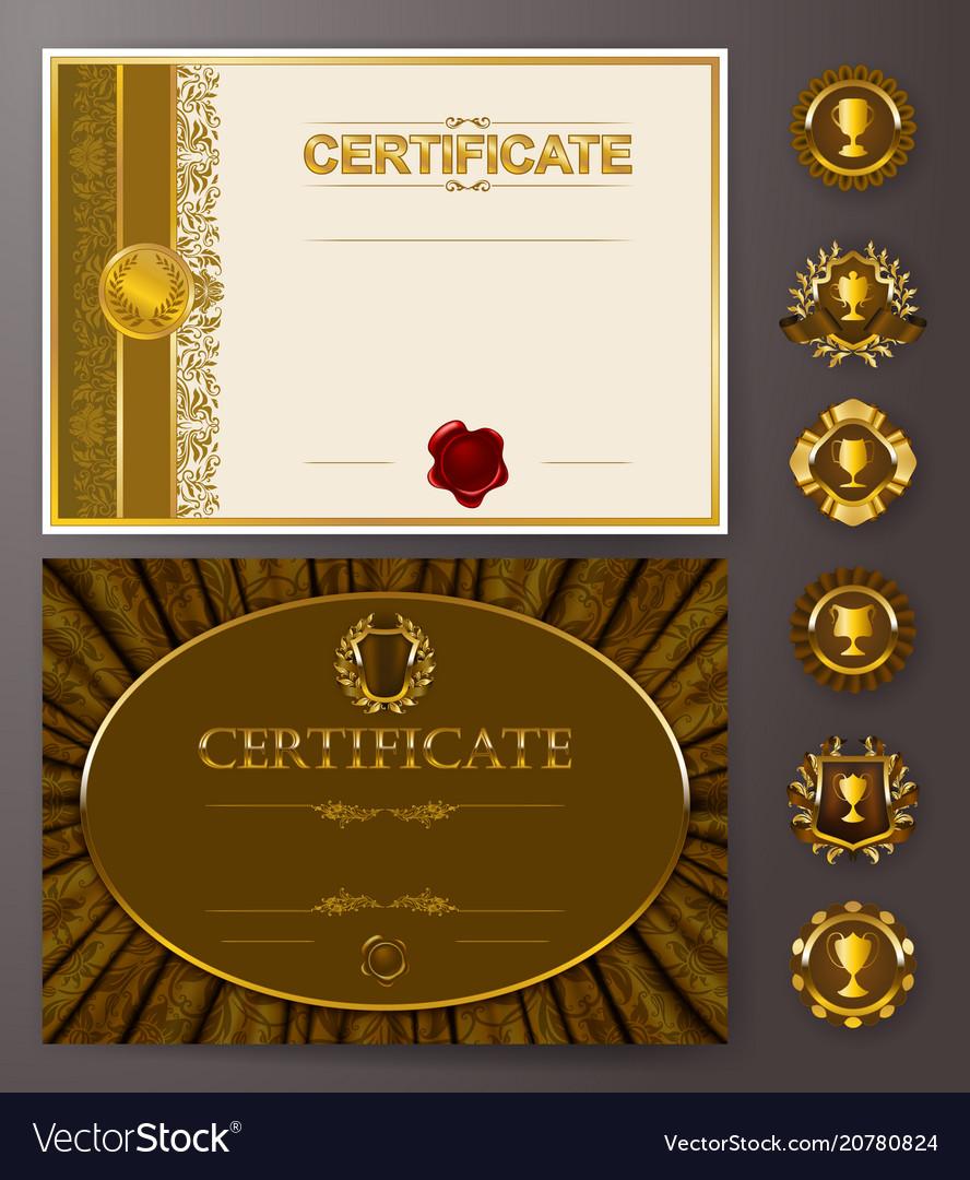 Elegant template of certificate diploma