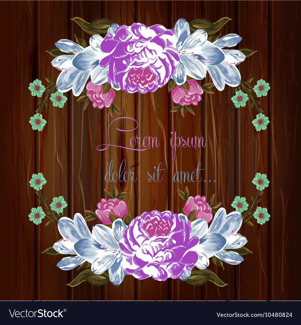 Floral Save The Date hand drawn Invitation vector image