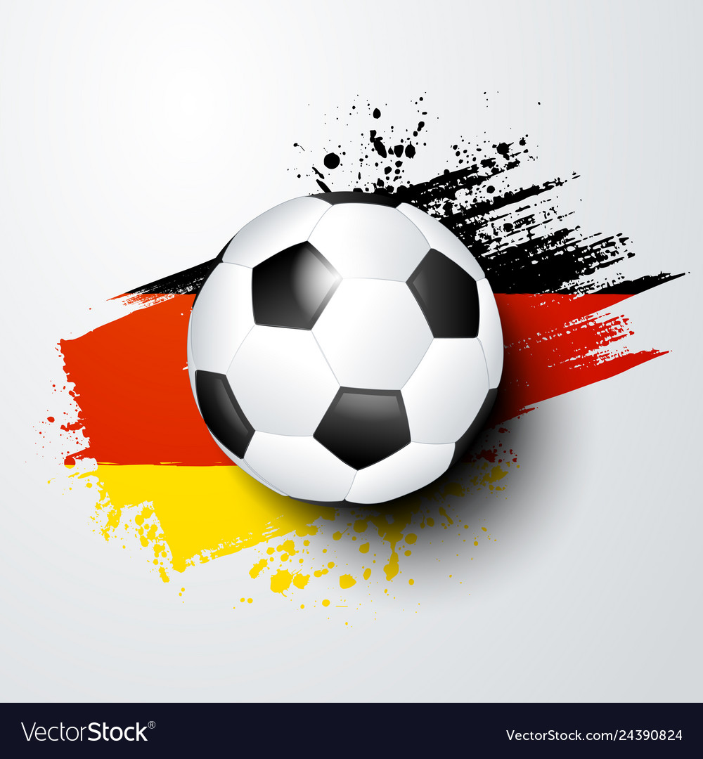 - Football Soccer Ball And Germany Flag Colors Vector Image