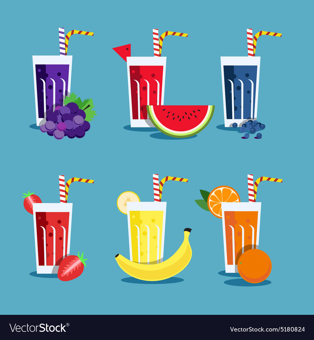 Fresh smoothies set