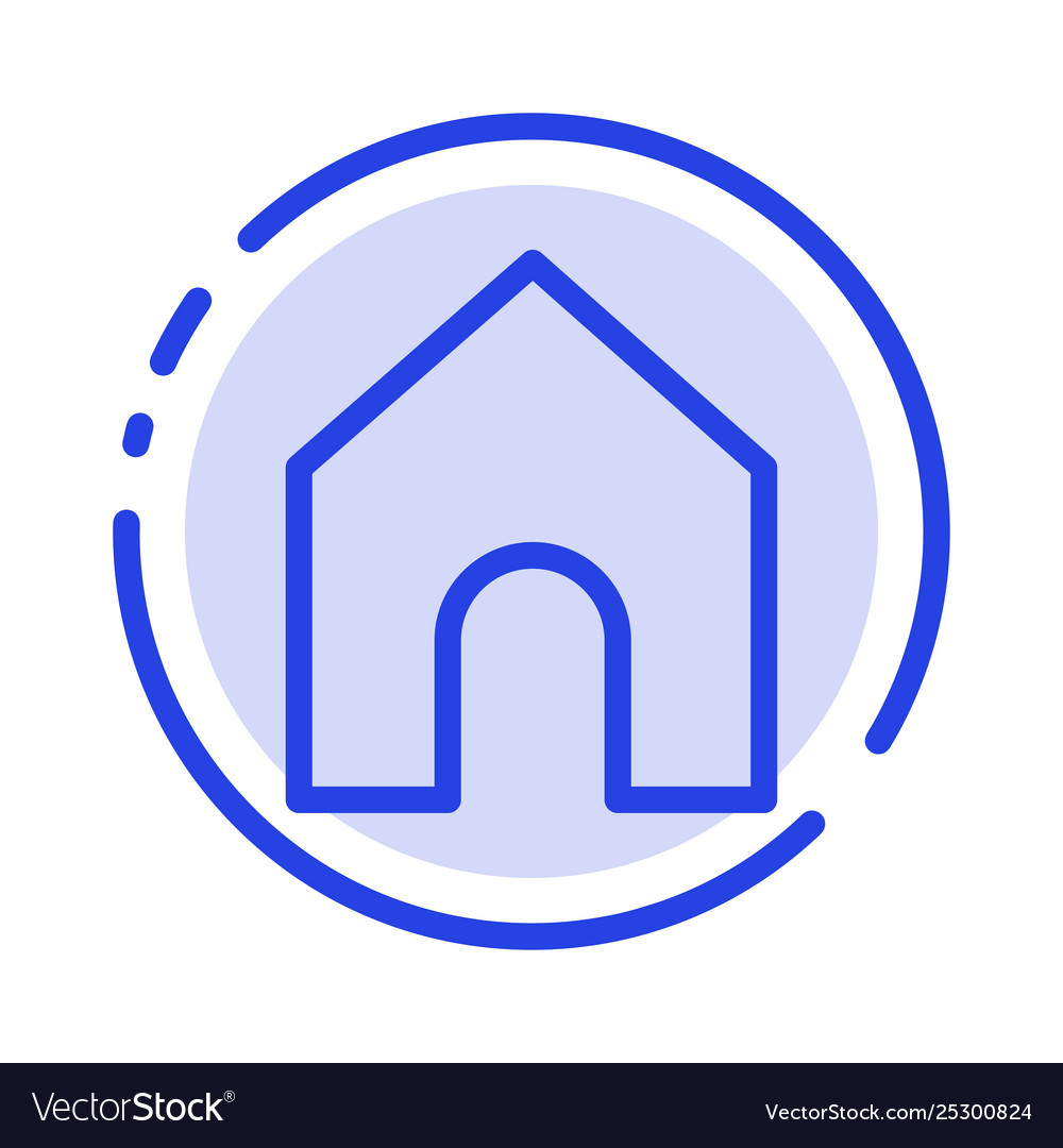 Home instagram interface blue dotted line line vector image