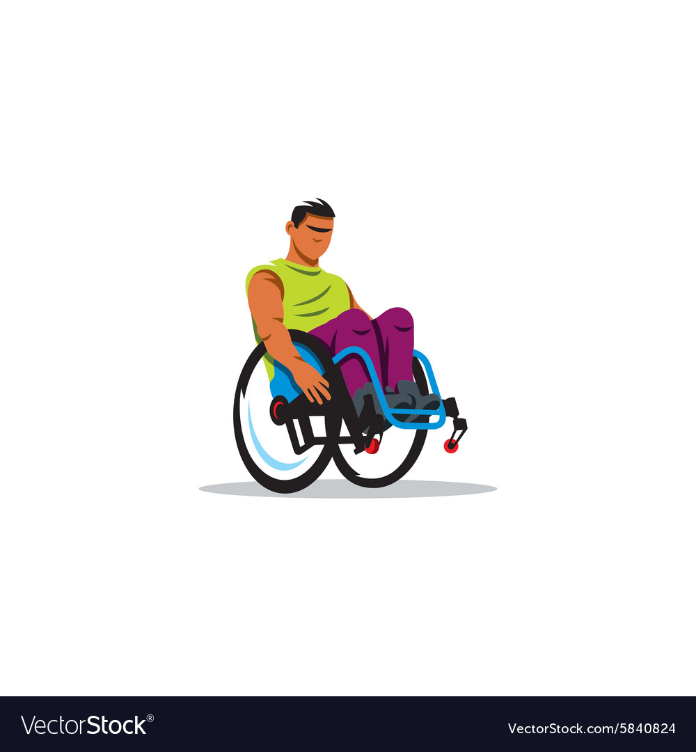 Man in wheelchair sign