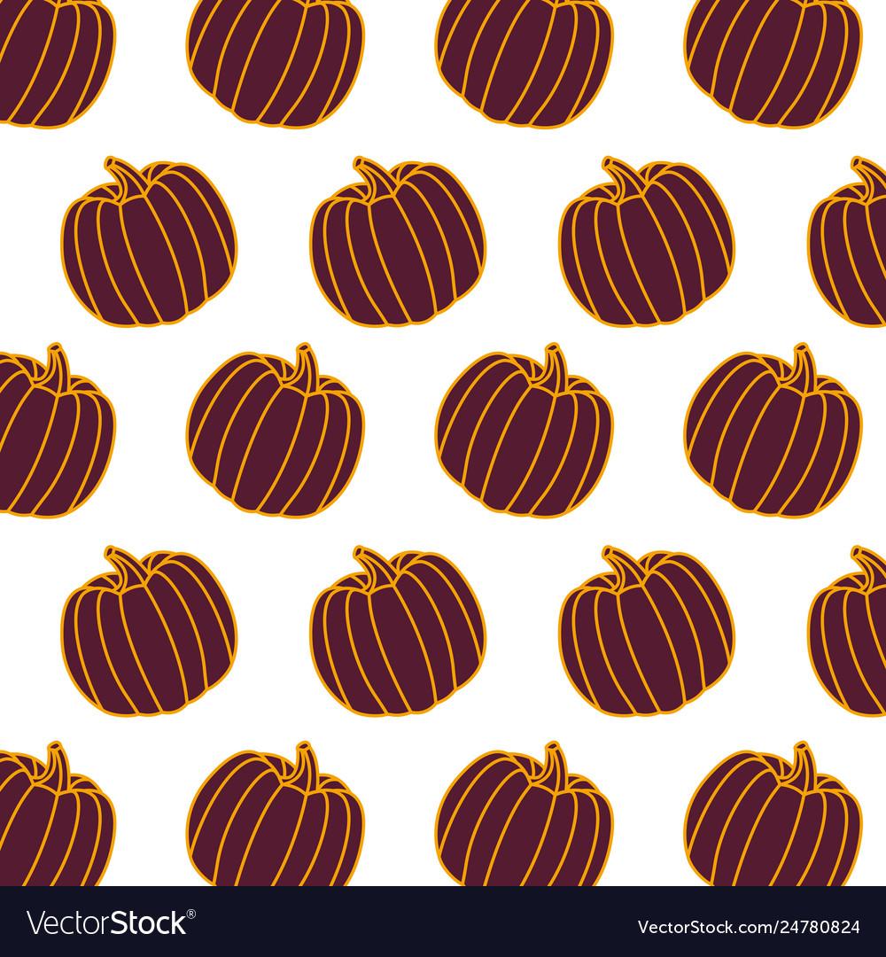Pumpkin vegetable food fresh pattern