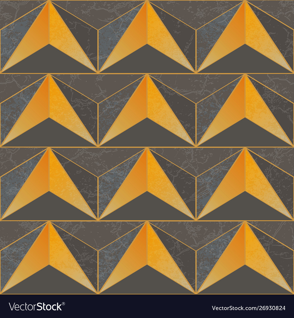 Yellow color triangle pattern