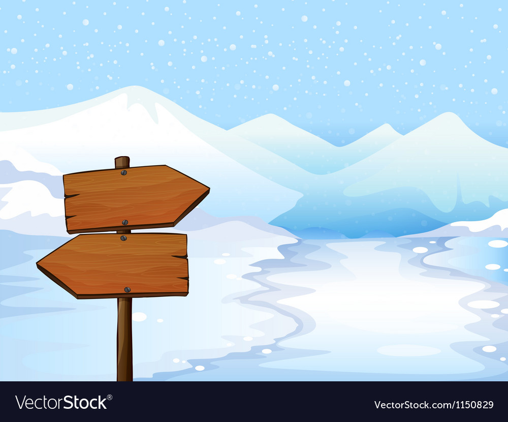 A wooden signboard vector image