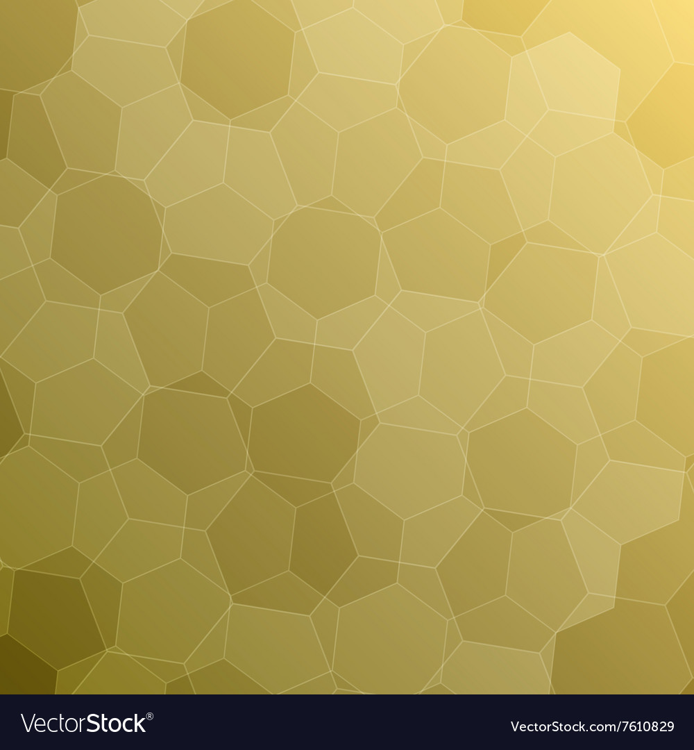 Abstract yellow background with hexagons