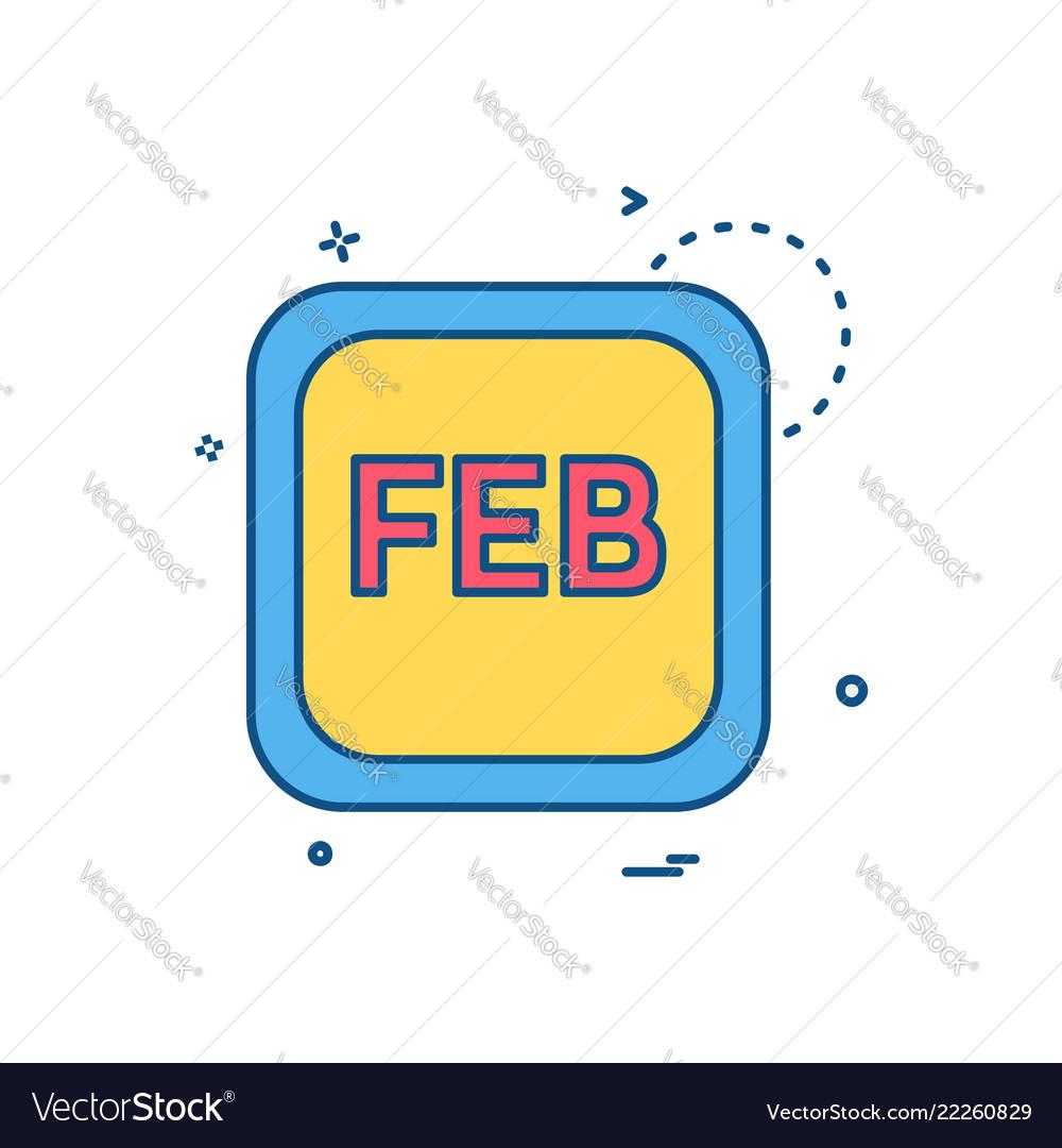 February calender icon design