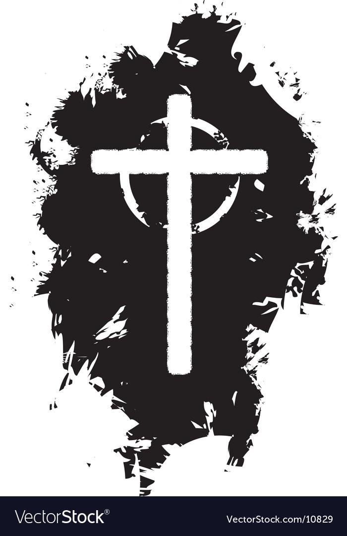 Grunge Christian cross