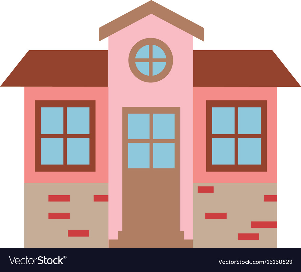 Light color silhouette of facade house of two Vector Image