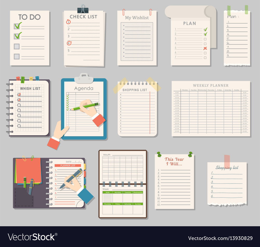 Notebook templates set
