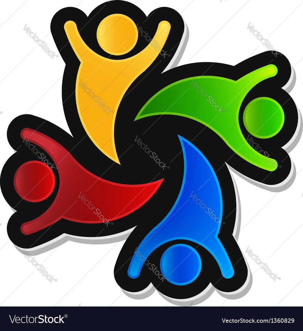 Teamwork Party 4 Logo design element