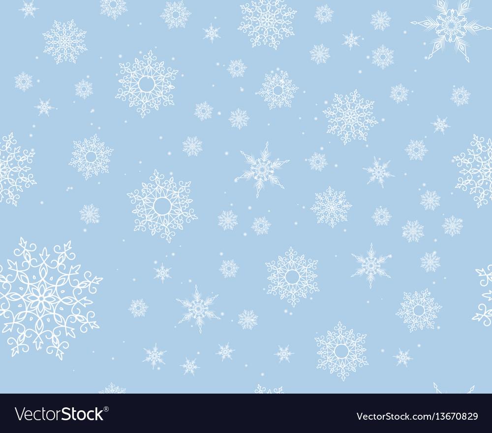 Winter card snowflake pattern