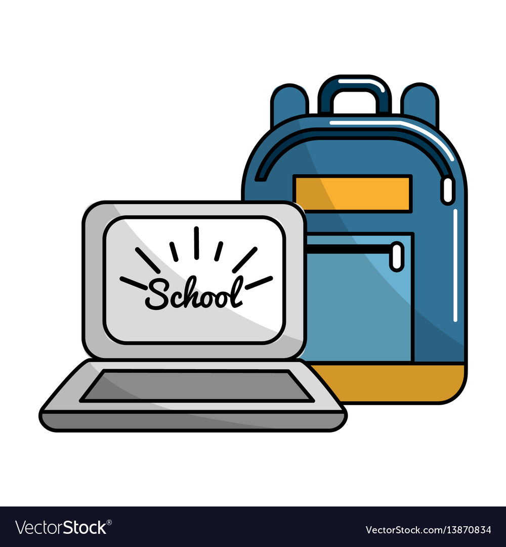 Bag and school tools icon