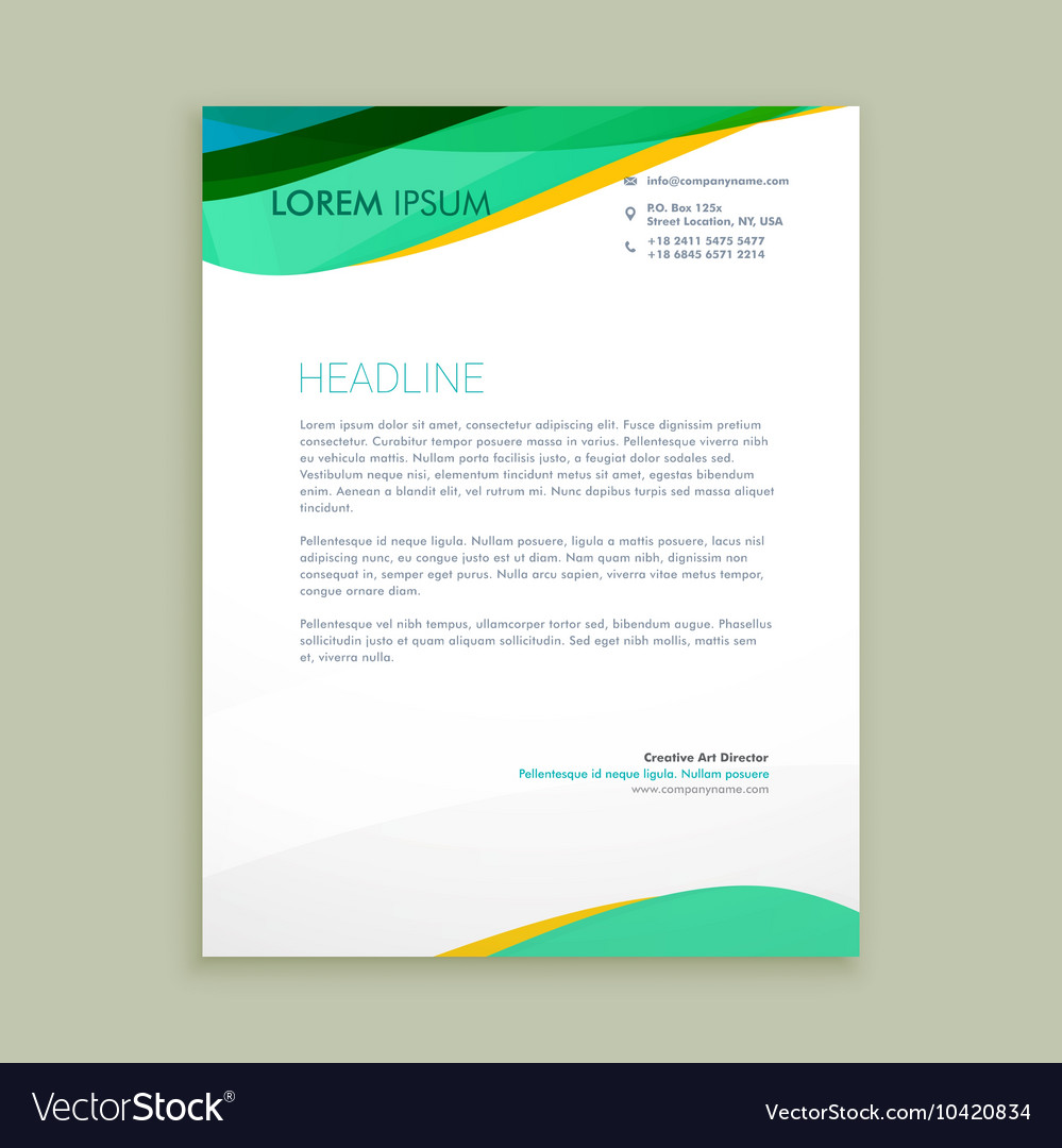 Beautiful letterhead presentation vector image