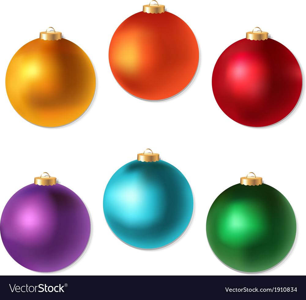 Colorful Christmas Balls.Colorful Christmas Balls Set