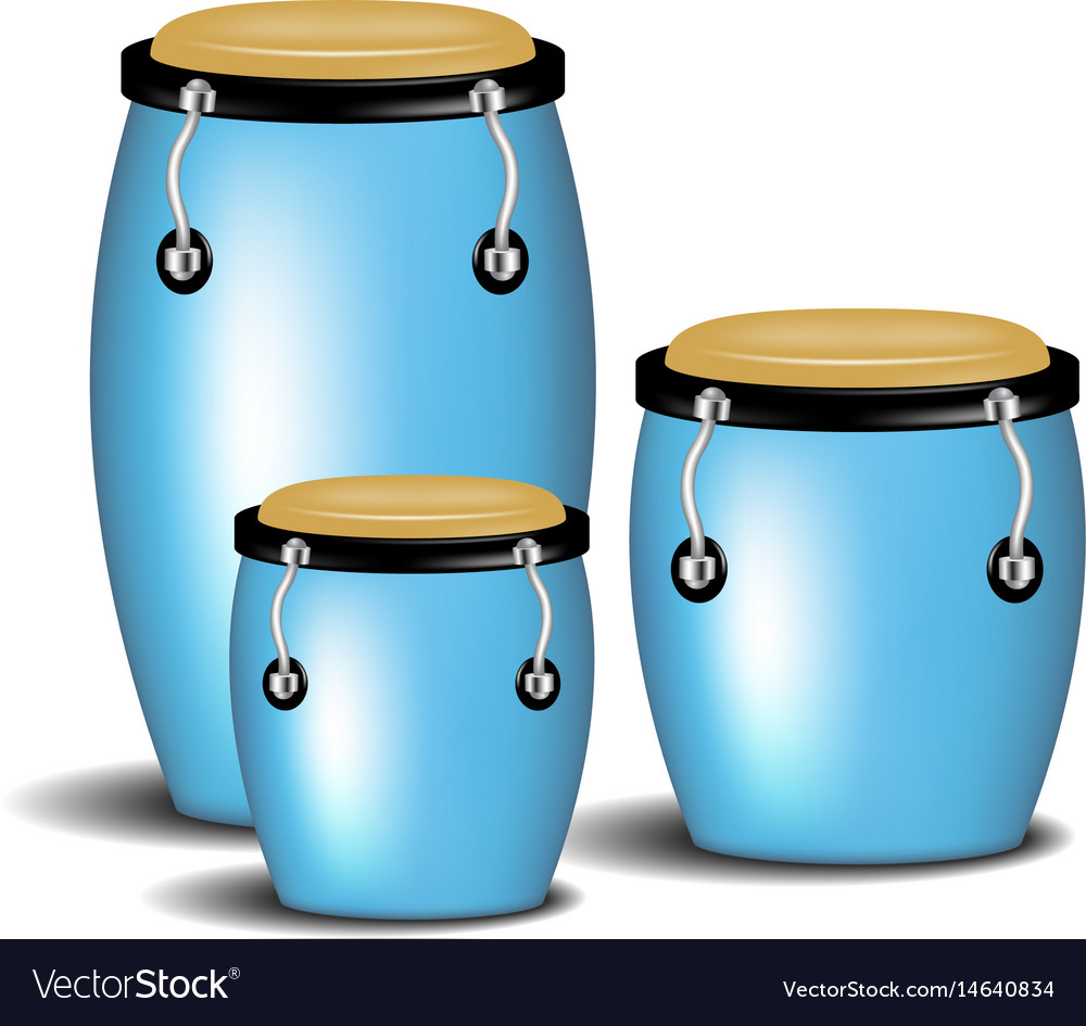 Congas band in blue design with shadow