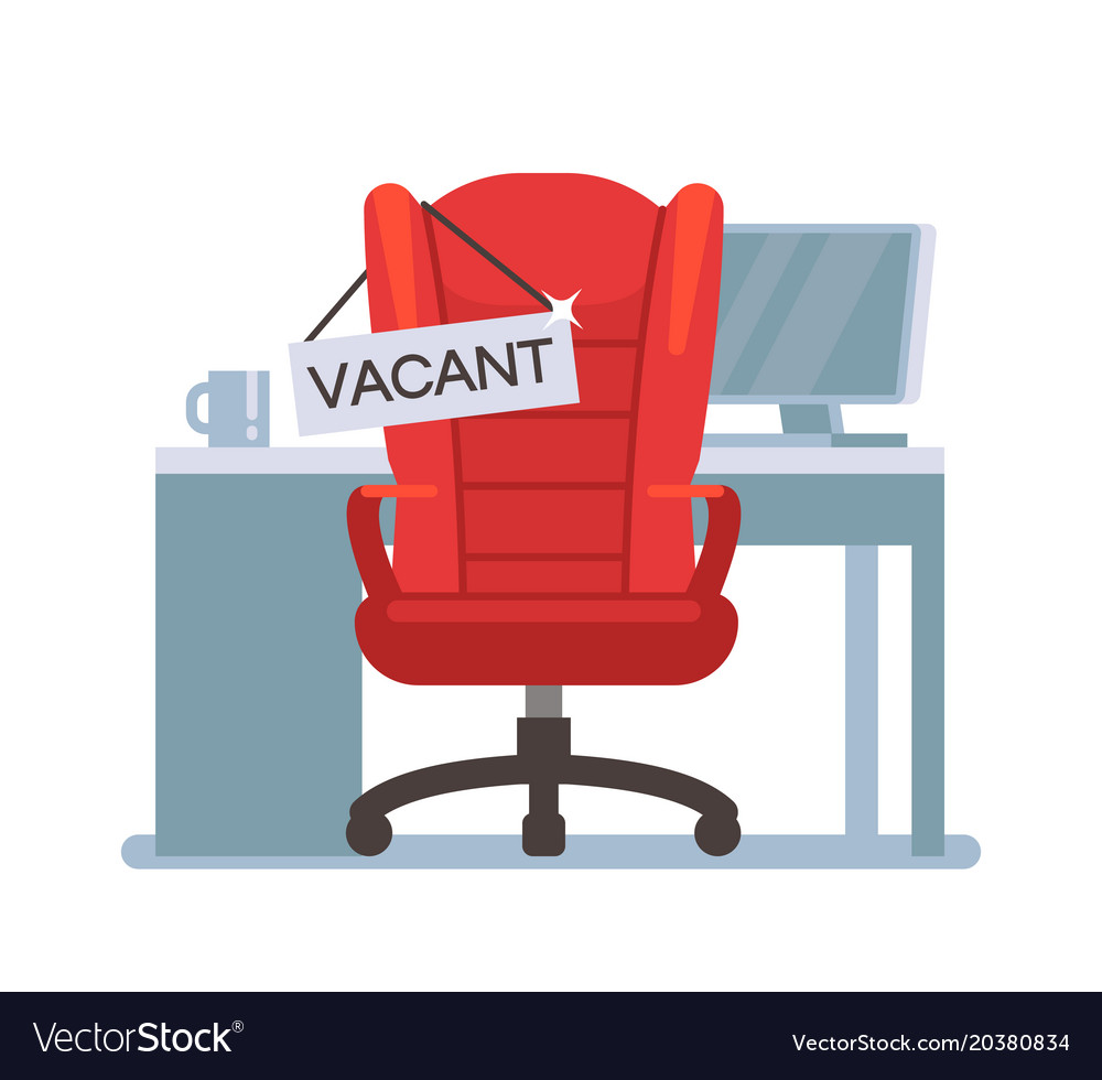Stupendous Empty Office Chair With Vacant Sign Employment Ncnpc Chair Design For Home Ncnpcorg