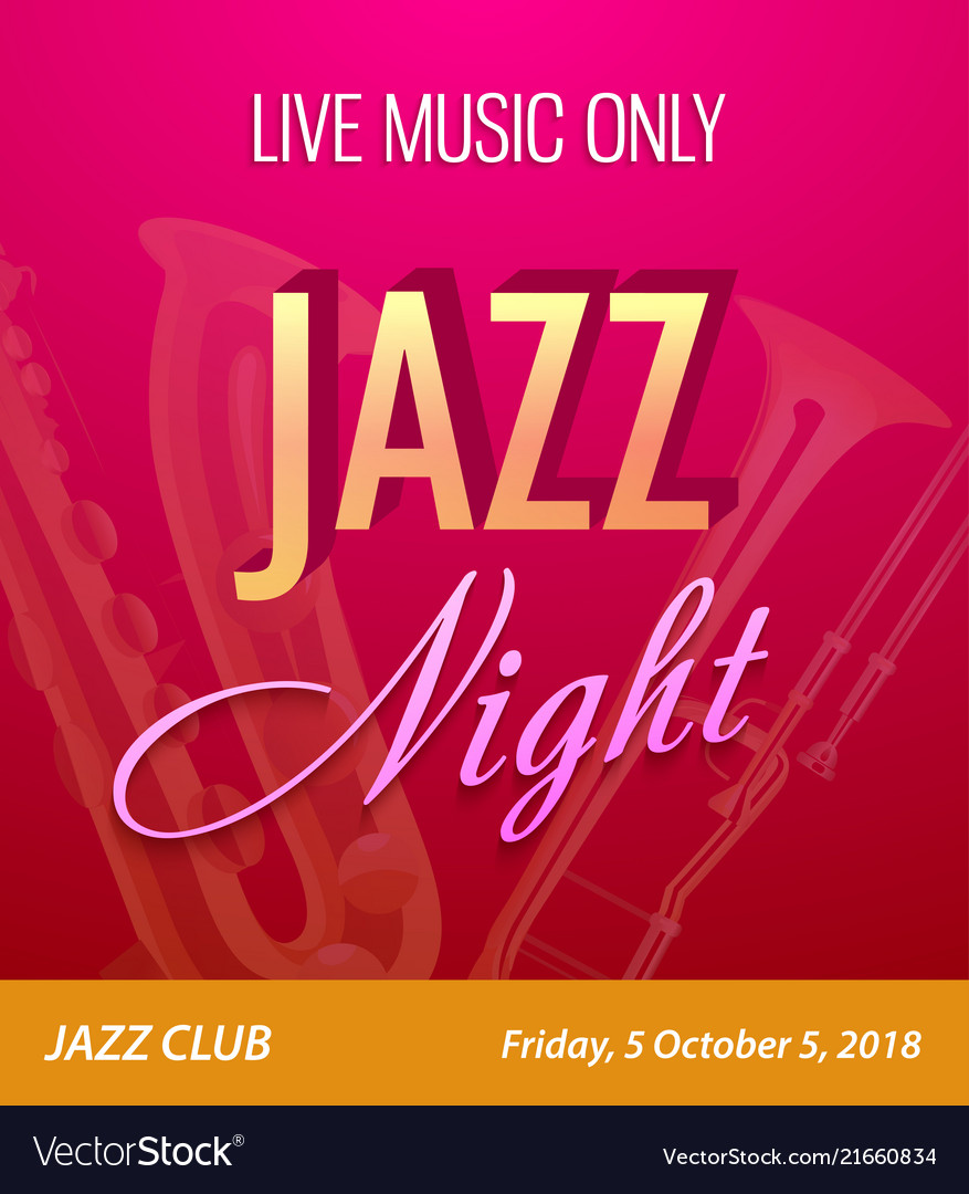 Flyer for jazz night party - template for music