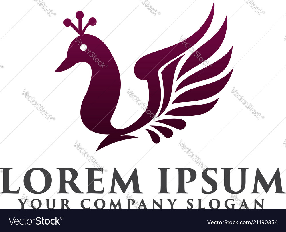 Goose wings logo design concept template