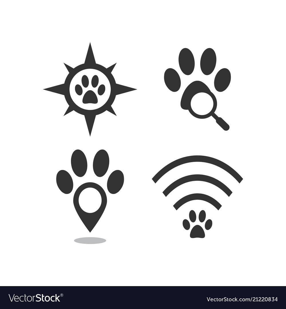 Pet locator logo template