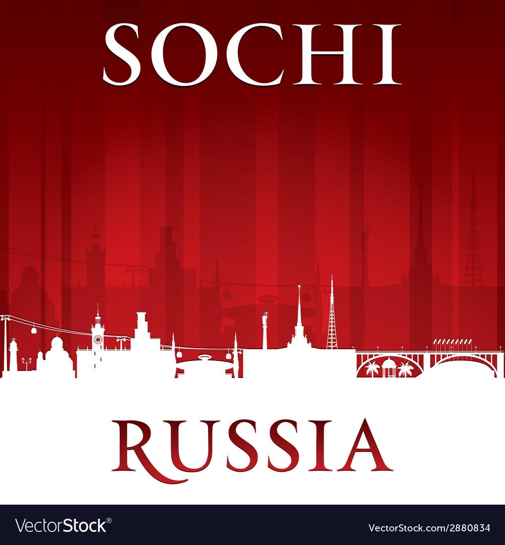 Sochi Russia city skyline silhouette