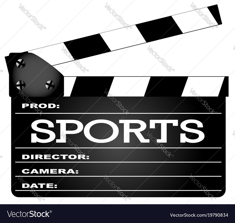 Sports clapperboard