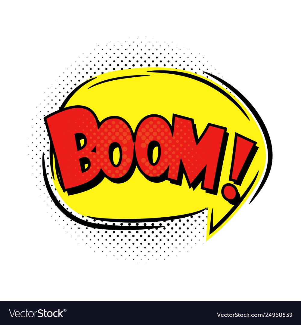 Boom speech bubble