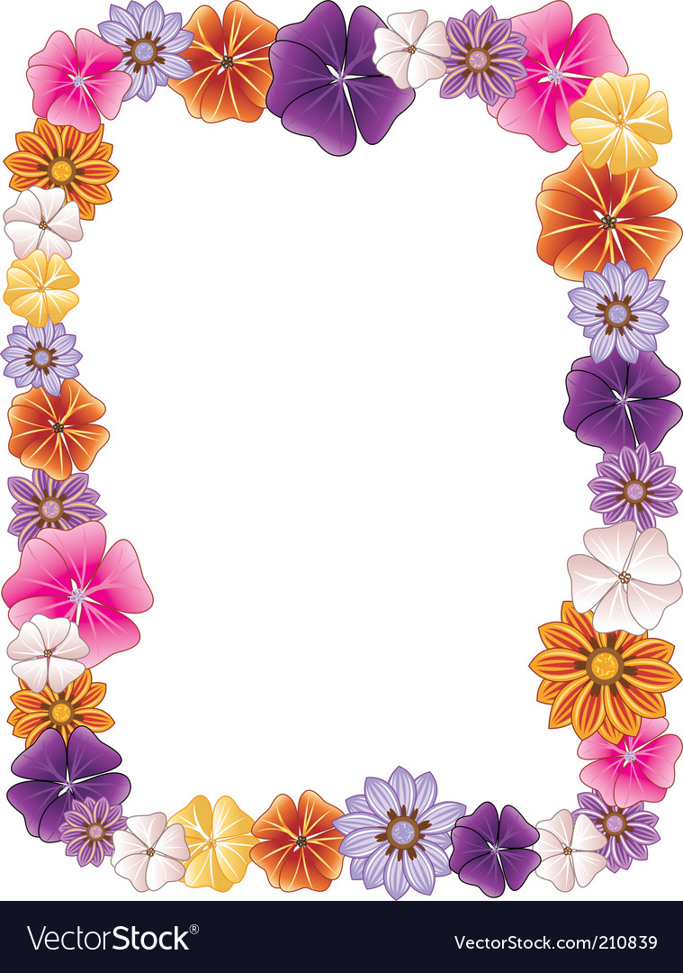 Flower Picture Frame on Flower Border Vector 210839   By Basheeradesigns