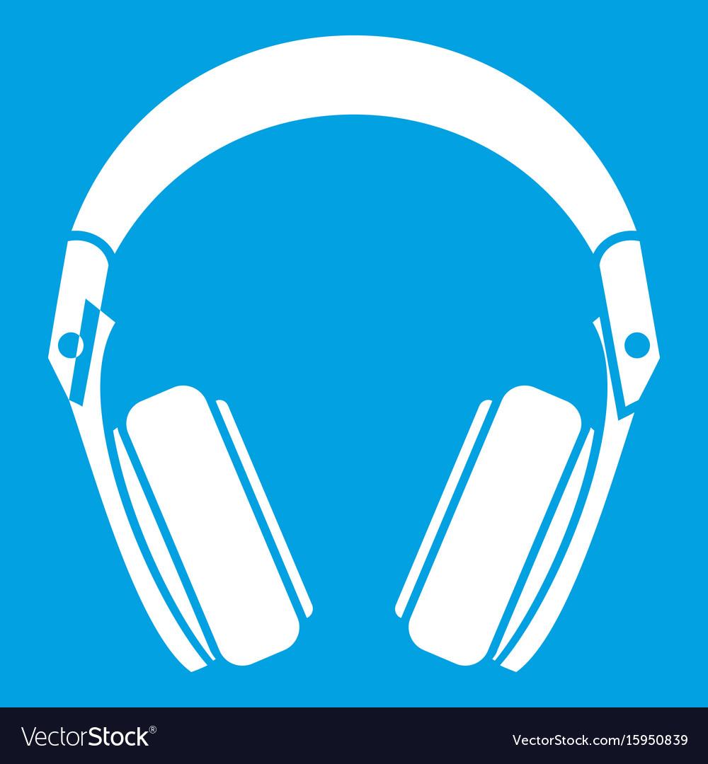 Headphones icon white