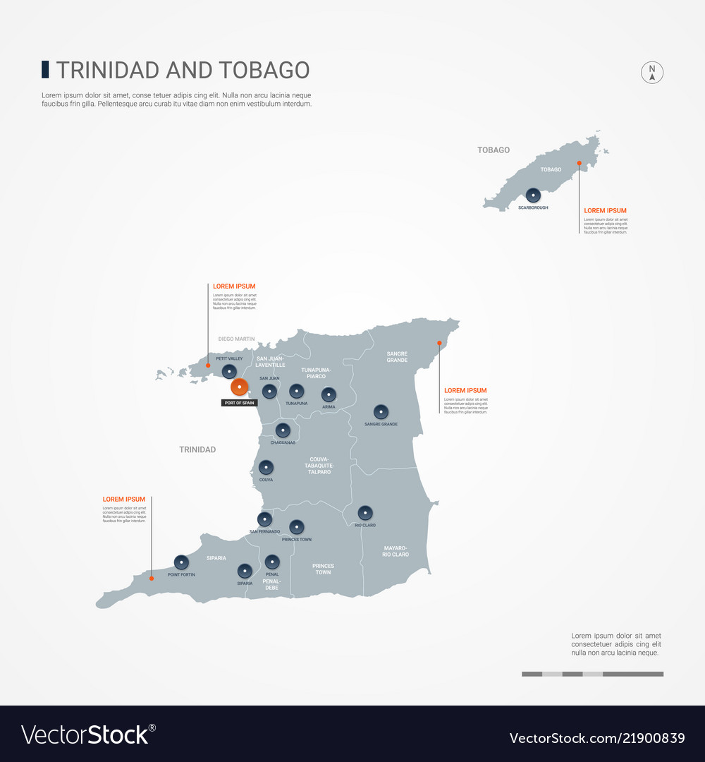 Trinidad and tobago infographic map