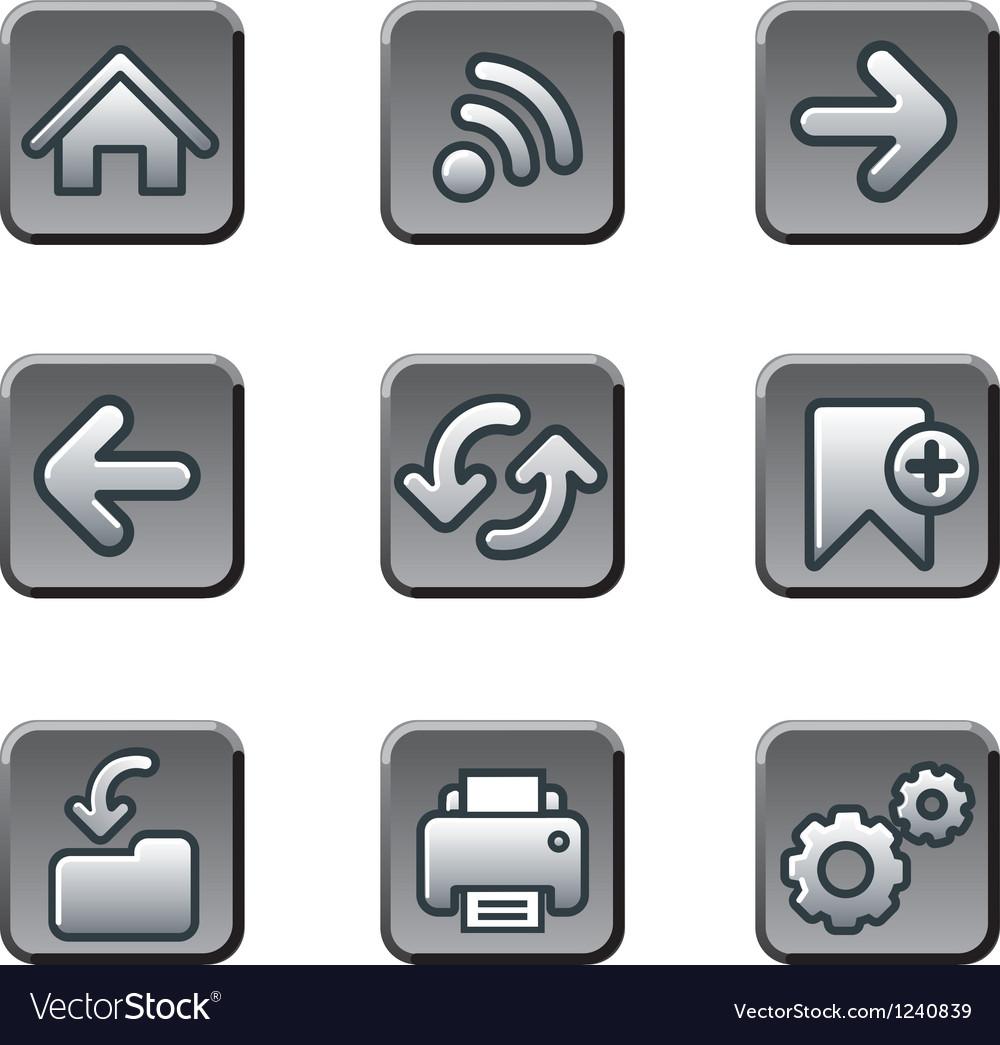 Web navigation buttons set