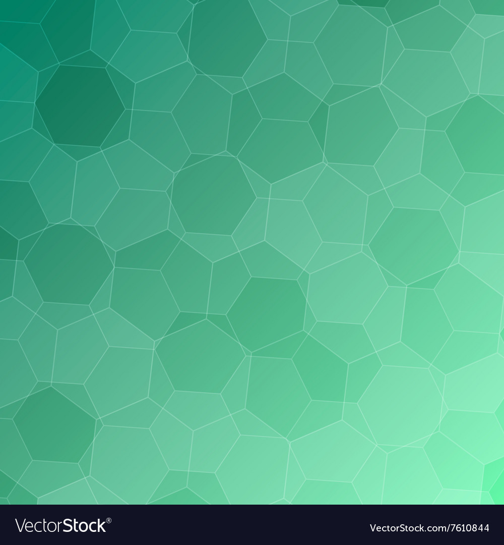 Abstract green background with hexagons