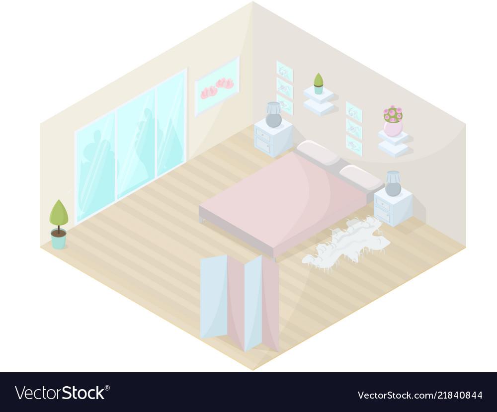 Bedroom isometric