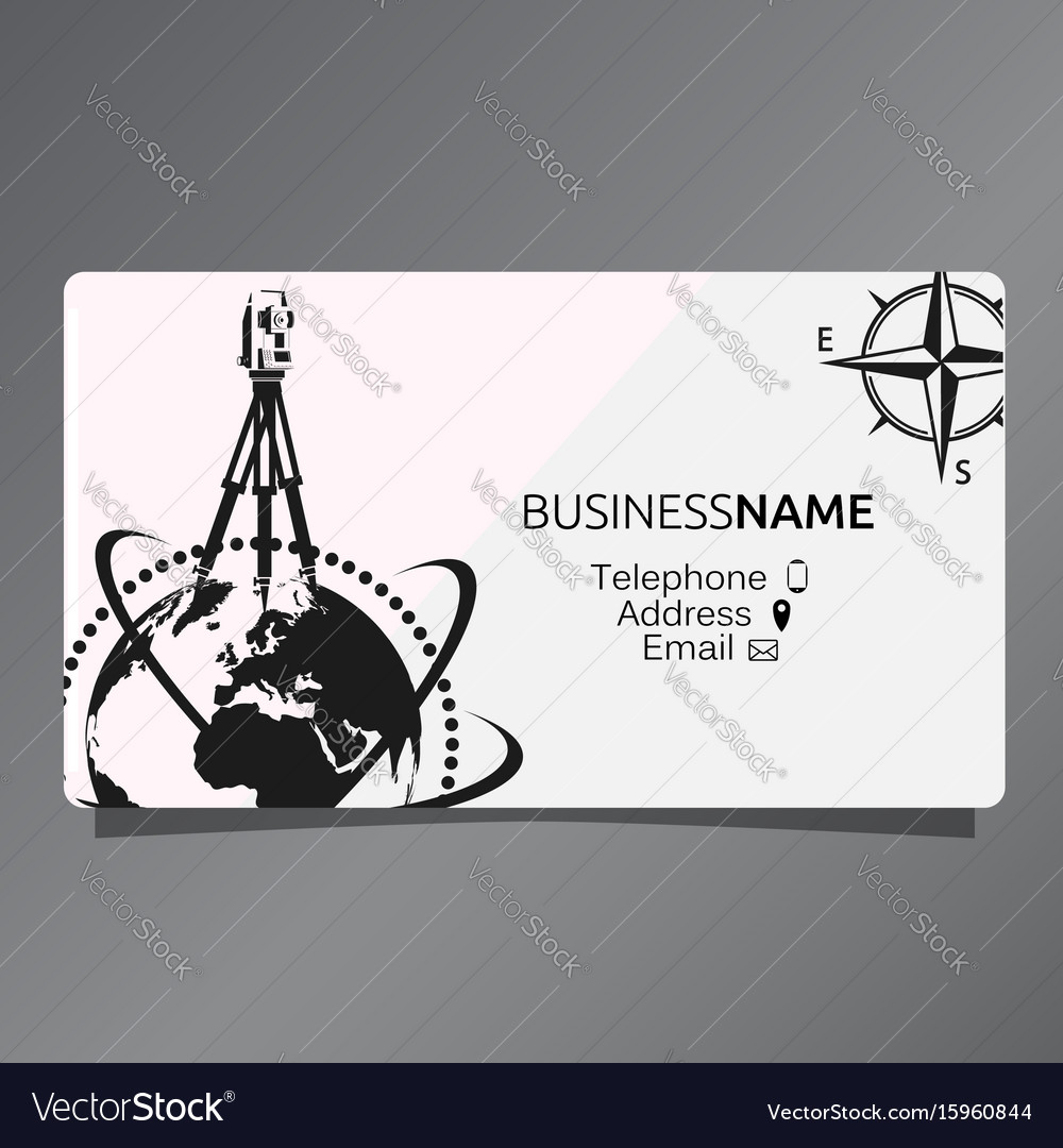 Business card of geodesy and cartography