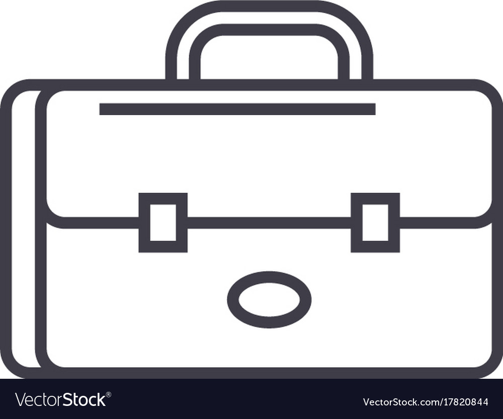 Business case portfolio sign line icon vector image