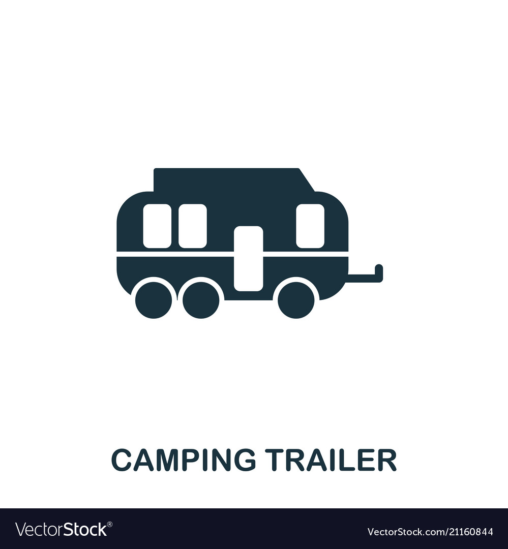 Camping trailer icon mobile app printing web