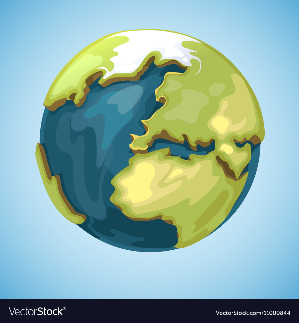 Cartoon earth planet globe in