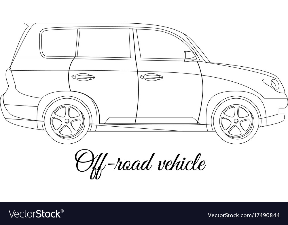 Off-road vehicle car body type outline