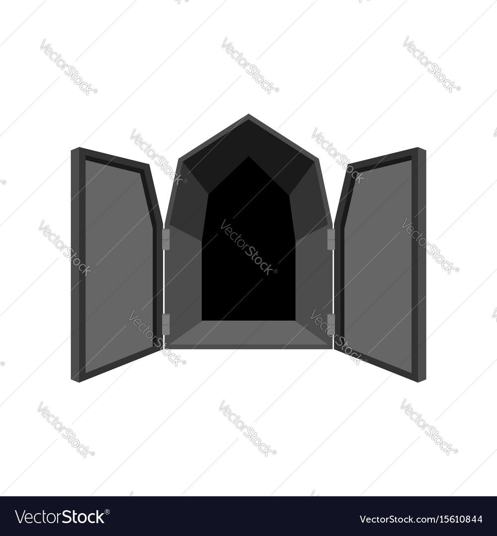 Open doors isolated door to hell unblock black vector image