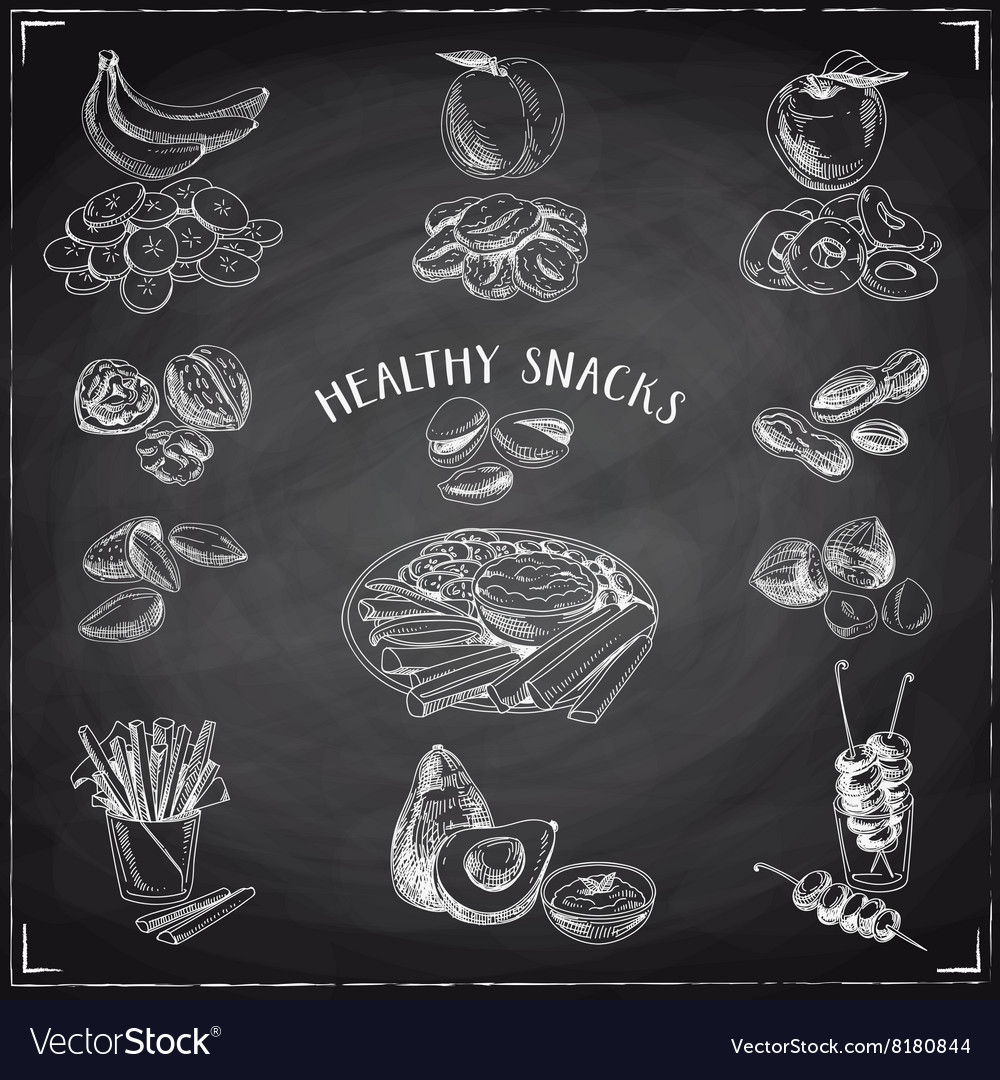 Set of healthy snacks