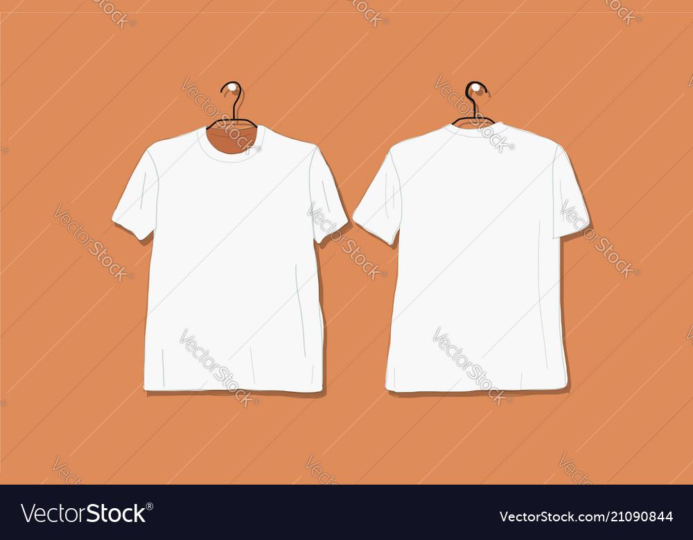 Tshirt mockup white for your design